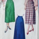 Simplicity 2624 vintage 1948 sewing pattern skirt size waist 28 missing waistband