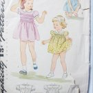 Simplicity 4998 vintage 1944 girls smocked dress and panties pattern size 2