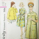 Simplicity 4572 sewing pattern circa 1960 woman duster smock size 12 B32
