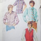 Simplicity 5047 vintage 1976 sewing pattern man shirt vest size 36