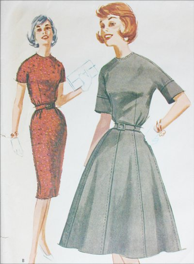 McCall 5956 misses dress size 16 B36 vintage 1961 sewing pattern