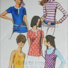 Simplicity 8834 tank top blouse size 14 B36 a 1970 sewing pattern
