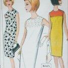 McCall 7813 misses slim sleeveless dess vintage 1965 sizes 14 16