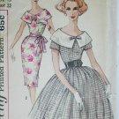Simplicity 3422 misses dress size junior 13 B33 vintage 1950s sewing pattern