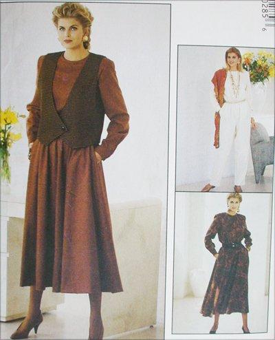 McCAll 5028 misses vest jumpsuit dress sizes 20 22 24 UNCUT sewing pattern