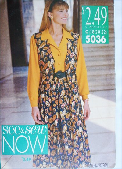 Butterick 5036 UNCUT sewing pattern misses shirt ves skirt sizes 18 20 22