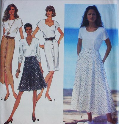 Simplicity 8498 misses slim or flared skirt sizes 18 20 22 24 UNCUT