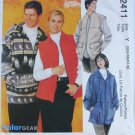 McCall 2411 misses mens unlined jacket vest sizes S M L UNCUT sewing pattern