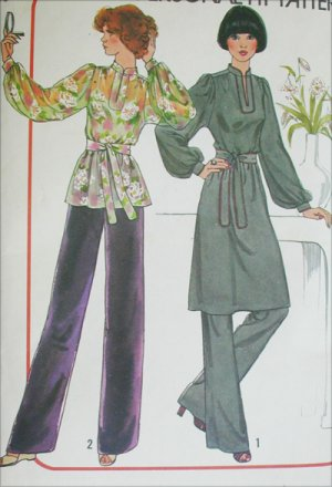 Simplicity 7714 misses pullover dress or tunic size 10 12 vintage 1976 sewing pattern