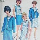 Simplicity 6891 misses skirt blouse jacket size 20 B40 vintage 1966 sewing pattern
