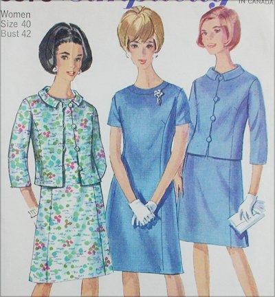 Simplicity 6978 misses jacket dress size 40 B42 vintage 1967 sewing pattern