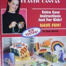 Leisure Arts1638  Teach Me Plastic Canvas booklet 12 easy kid tested craft projects
