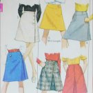 Simplicity 7869 misses wrap and other skirts size waist 27 H38 vintage 1968 sewing pattern