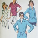 Simplicity 6436 men or woman pullover shirt size 12 B 34 vintage 1974 sewing pattern