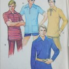 McCall 3068 retro mans pullover shirt stretch knits only size 38 to 40 sewing pattern