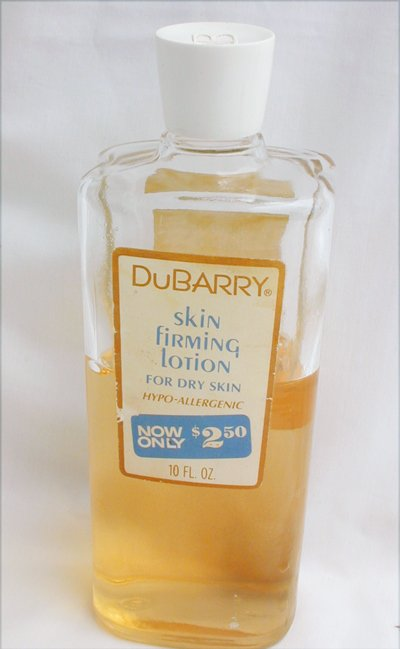 Vintage  bottle DuBarry skin firming lotion for dry skin circa 1960 s