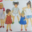 Simplicity 8313 girl toddler dress shorts tops size 2