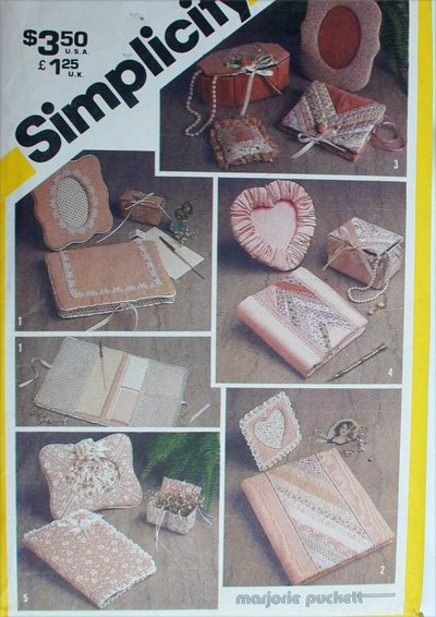 Simplicity 5296 fabric covered desk accessories book frame pattern UNCUT