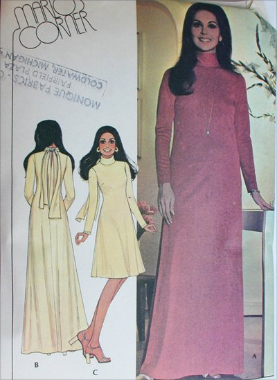 McCall 4679 simple dress long or short Marlo design size 12 B34 UNCUT pattern knits only