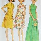 Simplicity 6276 misses long or short dress size 18 1/2 B41 pattern retro 1974