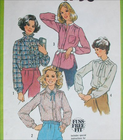 Simplicity 8738 misses blouse size 20 B42 vintage 1978 sewing pattern