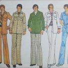 Simplicity 7314 retro mans leisure suit jacket 32 to 33 1/2 pants