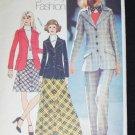 Simplicity 5212 misses blazer skirt pants size 12 vintage 1972 sewing pattern