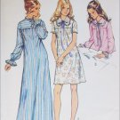 Simplicity 5083 misses nightgown size 16 to 18 vintage 1972 sewing pattern