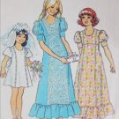 Simplicity 6823 girls long dress size 8 B27 sewing pattern vintage 1975