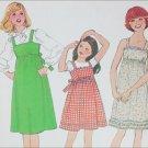 Simplicity 8362 girls dress jumper size 12 B30 vintage 1978 pattern