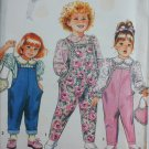 Simplicity 7592 girls overall blouse purse size 5 6 6X UNCUT sewing pattern