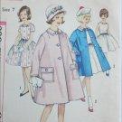 Simplicity 4332 girls dress coat size 7 B25 vintage 1962 sewing pattern
