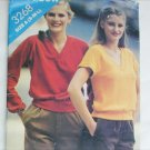 Butterick See and Sew 3268 misses top stretch knits only size S M L pattern