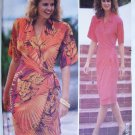 Butterick 4017 misses tapered wrap dress size 12 14 16 UNCUT pattern