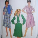 Simplicity 7423 misses shirt dress reversible vest size 14 B36 UNCUT pattern