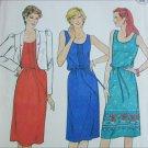 Butterick 4206 misses sleeveless dress jacket size 16 B38 UNCUT pattern