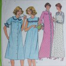 Simplicity 8198 misses nightgown robe size 14 B36 sewing pattern
