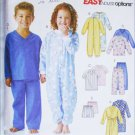 McCall 4283 child pajama robe jumpsuit sizes 4 5 6 sewing pattern