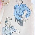 Advance 4328 vintage misses blouse size 16 bust 34 sewing pattern