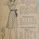 Ladies Home Journal 1015 sewing pattern vintage early 1940s dress size 10 Bust 28