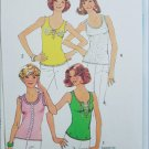 Simplicity 6976 misses stretch knit one yard sleeveless tops sizes 16 to 18 pattern