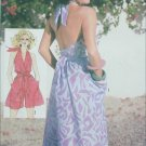 Simplicity 6888 misses halter dress romper size 6 8 Bust 30 1/2 32 1/2 sewing pattern