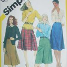 Simplicity 6359 classic skirt pattern size 12 waist 26 1/2 inches