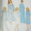 Simplicity 8712 misses nightgown pajamas robe sizes XS S M pattern