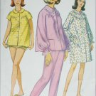 Simplicity 6278 misses pajamas and housecoat sewing pattern size 16 bust 36