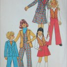 Simplicity 7606 girls unlined jacket pants skirt size 12 sewing pattern