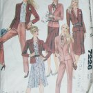 McCall 7226 misses size 12 skirt jackets pants sewing pattern