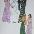 Simplicity 7807 gown size 12 vintage 1976 sewing pattern
