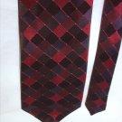 Robert Villi hand made 100% silk man's tie black burgundy 4 inches necktie