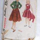Simplicity 2946 vintage 1949 girl's jumper & bolero pattern size 10